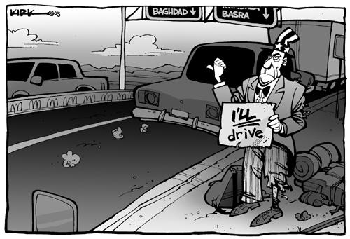 Cartoonist Kirk Anderson  Kirk Anderson's Editorial Cartoons 2003-09-20 Basra