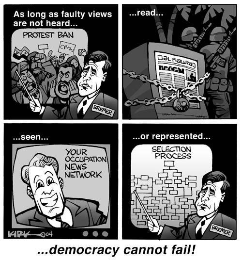 Cartoonist Kirk Anderson  Kirk Anderson's Editorial Cartoons 2004-04-10 Iraq