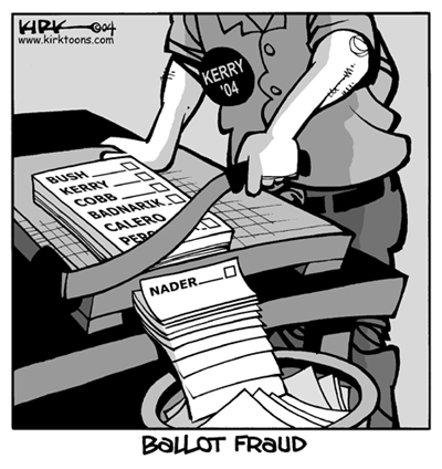 Kirk Anderson  Kirk Anderson's Editorial Cartoons 2004-10-29 voting rights
