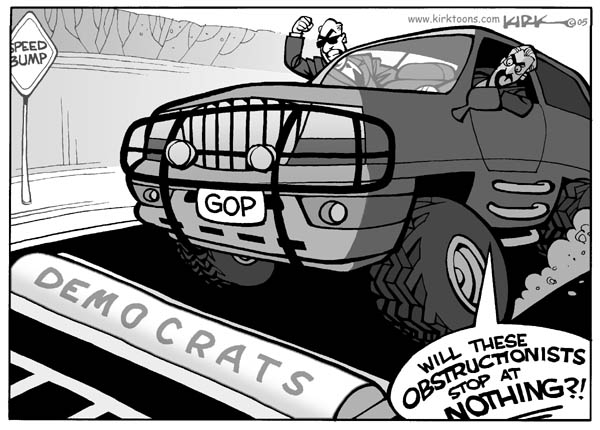Speed bump.  Democrats.  GOP.  Will these obstructionists stop at nothing?