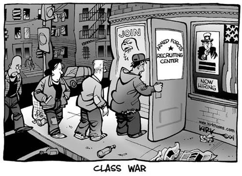 Join Armed Forces Recruiting Center.  Now Hiring.  Class War.