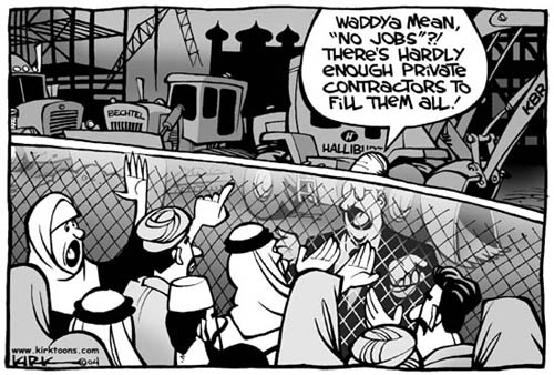 Kirk Anderson  Kirk Anderson's Editorial Cartoons 2004-07-06 profiteer