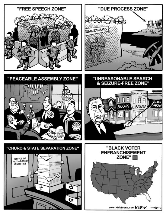 Kirk Anderson  Kirk Anderson's Editorial Cartoons 2004-07-29 voting rights