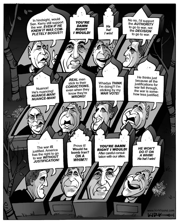 Cartoonist Kirk Anderson  Kirk Anderson's Editorial Cartoons 2004-08-16 Iraq