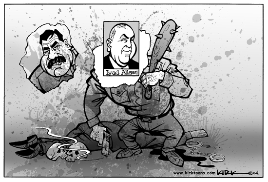 Cartoonist Kirk Anderson  Kirk Anderson's Editorial Cartoons 2004-08-26 Iraq