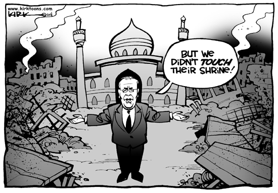 Cartoonist Kirk Anderson  Kirk Anderson's Editorial Cartoons 2004-09-03 Iraq