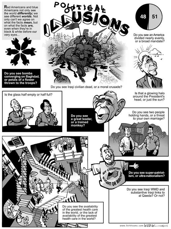 Kirk Anderson  Kirk Anderson's Editorial Cartoons 2004-11-19 illusion