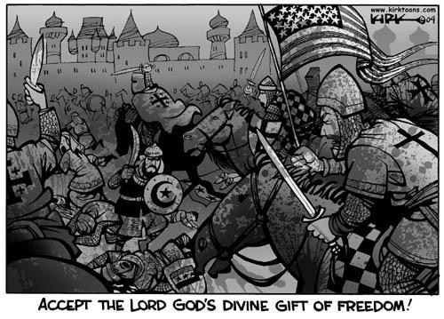 Cartoonist Kirk Anderson  Kirk Anderson's Editorial Cartoons 2004-04-20 Iraq