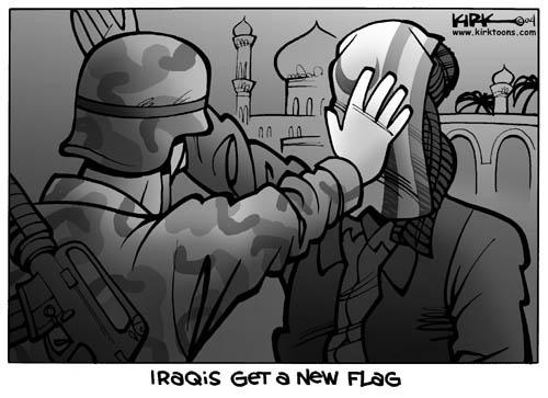 Cartoonist Kirk Anderson  Kirk Anderson's Editorial Cartoons 2004-04-26 Iraq