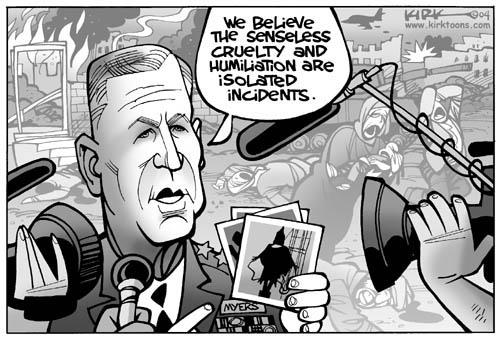 Cartoonist Kirk Anderson  Kirk Anderson's Editorial Cartoons 2004-05-11 Iraq