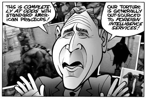 Cartoonist Kirk Anderson  Kirk Anderson's Editorial Cartoons 2004-05-03 Iraq