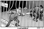 Cartoonist Kirk Anderson  Kirk Anderson's Editorial Cartoons 2003-02-10 animal