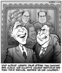 Cartoonist Kirk Anderson  Kirk Anderson's Editorial Cartoons 2004-03-10 2000 election Supreme Court