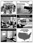Cartoonist Kirk Anderson  Kirk Anderson's Editorial Cartoons 2004-07-29 gun shell