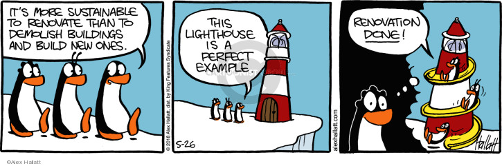 Its more sustainable to renovate than to demolish buildings and build new one. This lighthouse is a perfect example. Renovation done!