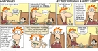 Cartoonist Rick Kirkman Jerry Scott  Baby Blues 2009-02-22 mix