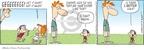 Cartoonist Rick Kirkman Jerry Scott  Baby Blues 2009-08-11 chase