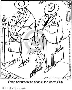 Comic Strip Jerry Van Amerongen  Ballard Street 2008-03-15 shoe