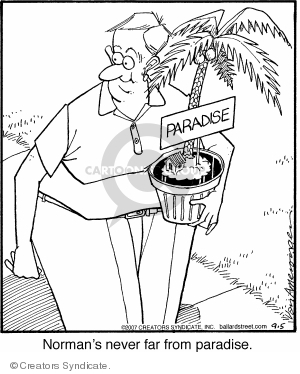 Comic Strip Jerry Van Amerongen  Ballard Street 2007-09-05 potted plant