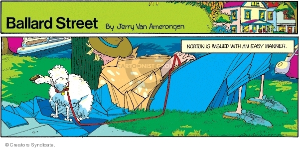 Comic Strip Jerry Van Amerongen  Ballard Street 2007-09-16 inertia