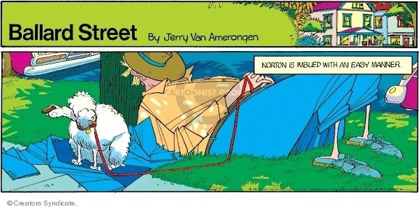 Cartoonist Jerry Van Amerongen  Ballard Street 2007-09-16 nap