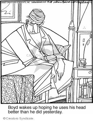 Comic Strip Jerry Van Amerongen  Ballard Street 2007-09-18 bed
