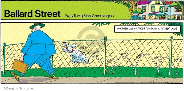 Cartoonist Jerry Van Amerongen  Ballard Street 2007-09-30 bad dog