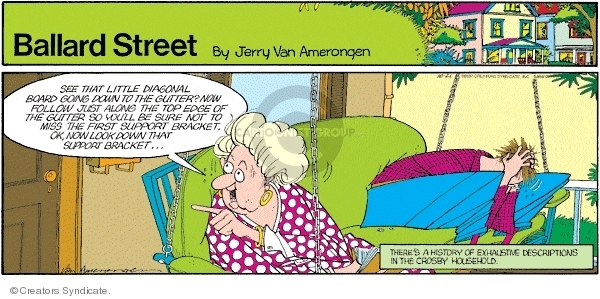 Comic Strip Jerry Van Amerongen  Ballard Street 2007-10-21 first husband