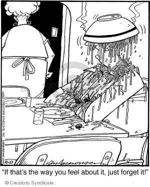 Comic Strip Jerry Van Amerongen  Ballard Street 2007-10-23 dinner