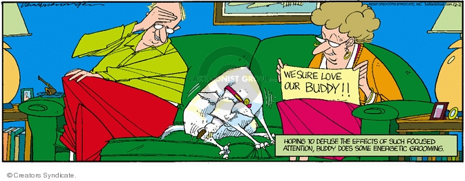 Cartoonist Jerry Van Amerongen  Ballard Street 2007-12-02 dog grooming