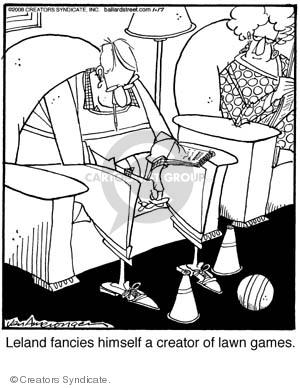 Cartoonist Jerry Van Amerongen  Ballard Street 2008-01-17 plays
