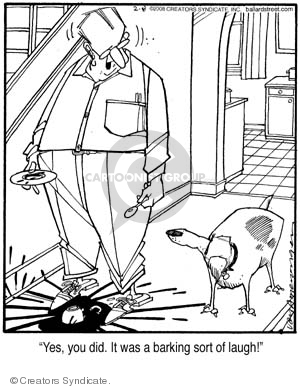Comic Strip Jerry Van Amerongen  Ballard Street 2008-02-08 pet behavior