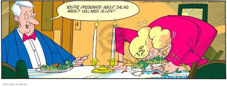 Comic Strip Jerry Van Amerongen  Ballard Street 2008-02-10 dinner