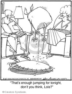 Cartoonist Jerry Van Amerongen  Ballard Street 2009-02-13 trampoline