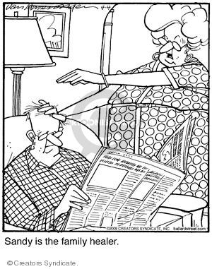Comic Strip Jerry Van Amerongen  Ballard Street 2009-04-04 hand