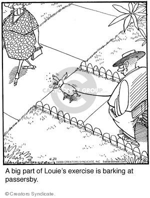 Cartoonist Jerry Van Amerongen  Ballard Street 2009-04-29 dog