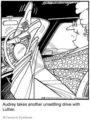 Audrey takes another unsettling drive with Luther.