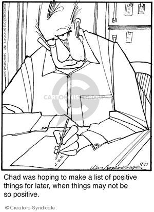 Comic Strip Jerry Van Amerongen  Ballard Street 2009-09-17 positive attitude
