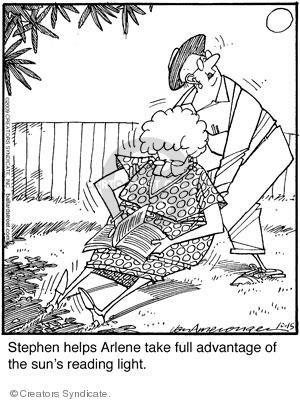 Comic Strip Jerry Van Amerongen  Ballard Street 2009-10-15 reading book