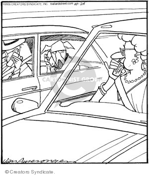 Comic Strip Jerry Van Amerongen  Ballard Street 2009-10-29 woman