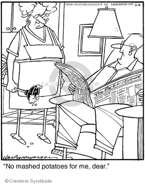 Comic Strip Jerry Van Amerongen  Ballard Street 2009-11-04 cooking