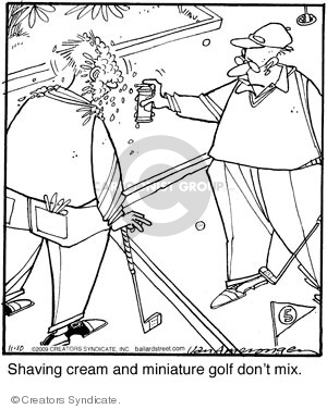Comic Strip Jerry Van Amerongen  Ballard Street 2009-11-10 sore loser