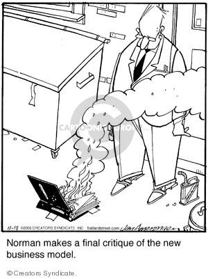 Comic Strip Jerry Van Amerongen  Ballard Street 2009-11-19 criticism
