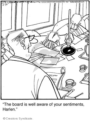 Comic Strip Jerry Van Amerongen  Ballard Street 2009-11-30 plunger