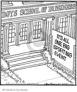 Comic Strip Jerry Van Amerongen  Ballard Street 2010-01-15 business school