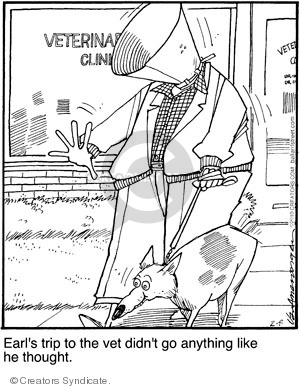 Cartoonist Jerry Van Amerongen  Ballard Street 2010-02-08 dog