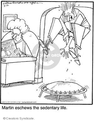 Cartoonist Jerry Van Amerongen  Ballard Street 2010-03-12 trampoline