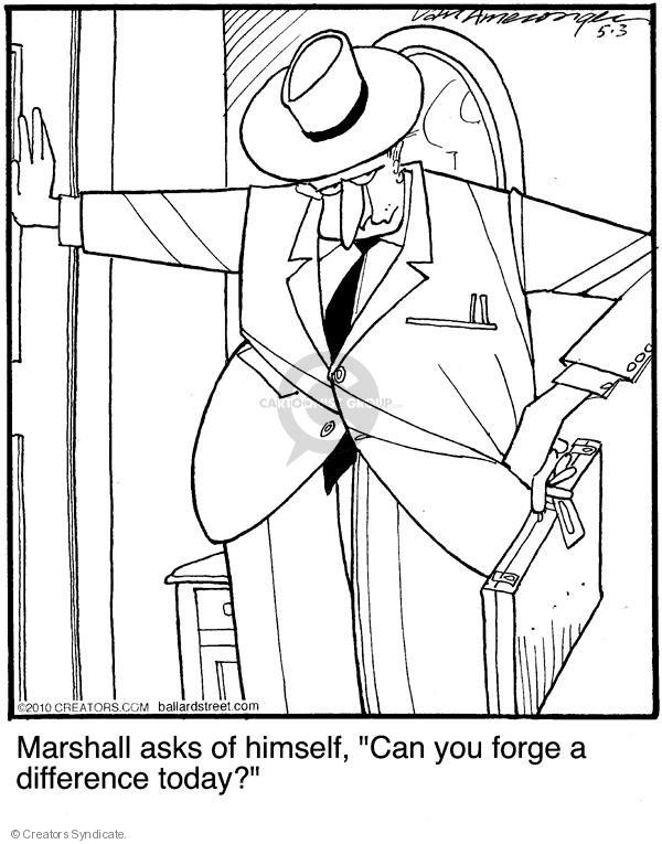 Comic Strip Jerry Van Amerongen  Ballard Street 2010-05-03 himself
