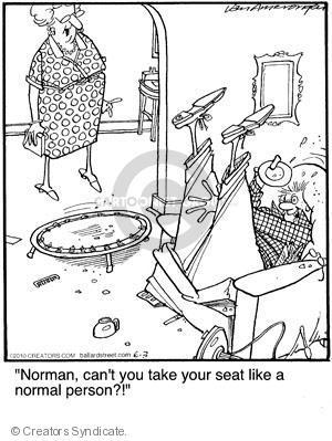 Cartoonist Jerry Van Amerongen  Ballard Street 2010-06-03 trampoline