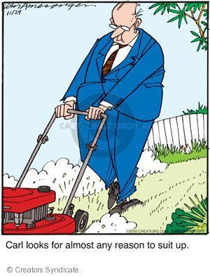 Comic Strip Jerry Van Amerongen  Ballard Street 2010-11-29 suit